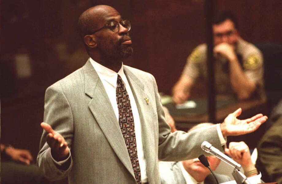 Chris Darden, pictured above during the O.J. Simpson trial, is defending the alleged killer of Nipsey Hussle. Photo: POOL, Getty Images / AFP