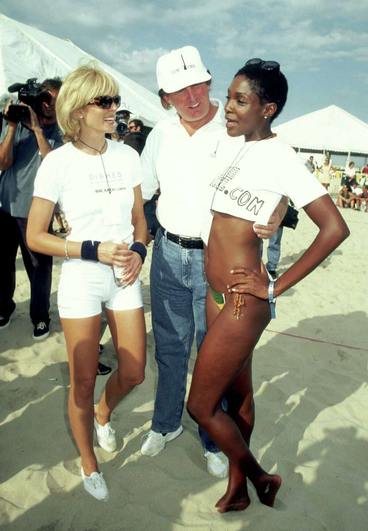 Marla Maples, Donald Trump, and Roshumba during 2nd Annual