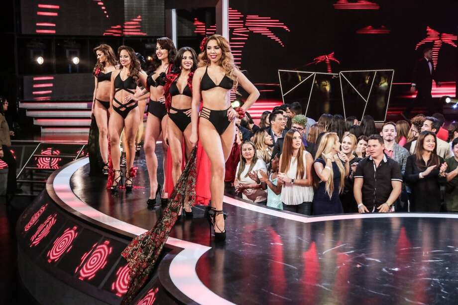 "Nuestra Belleza Latina 2016 contestants  on Univision's ""Nuestra Belleza Latina"" at Univision Studios on Feb. 23, 2016 in Miami, Florida. Photo: John Parra, Getty Images"