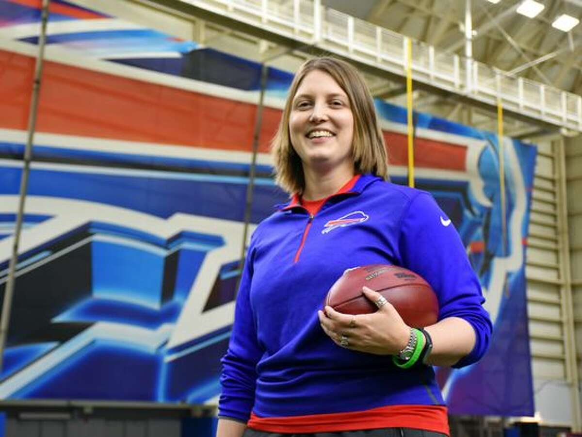 Kathryn Smith The Buffalo Bills hired Smith as their special teams quality control coach in January, making her the NFL's first female full-time coach.