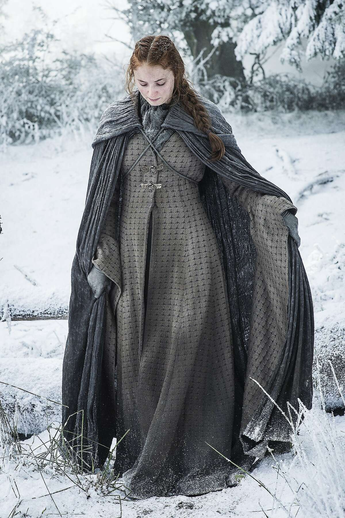 Sophie Turner in a scene from season six of