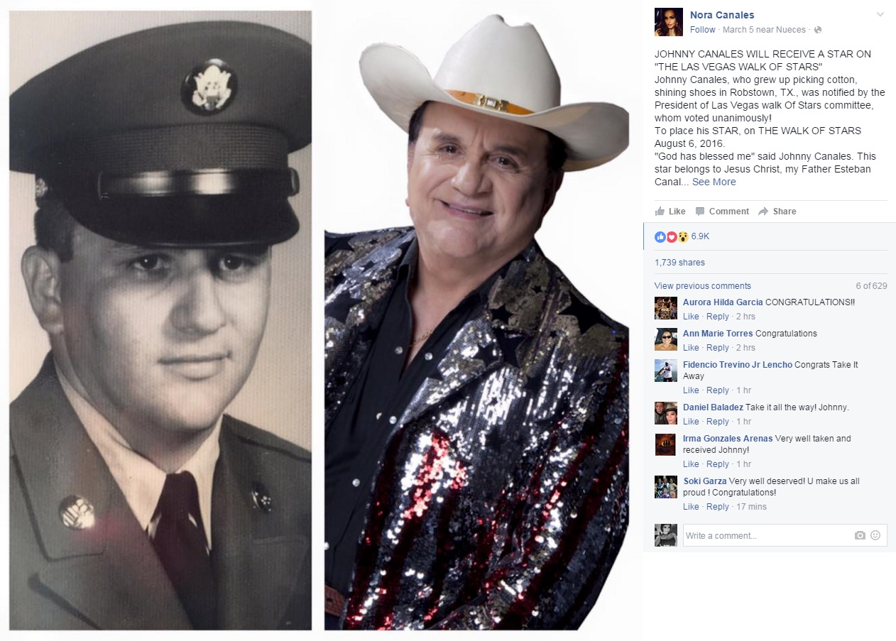 Texas Legendary Show Host Johnny Canales To Be