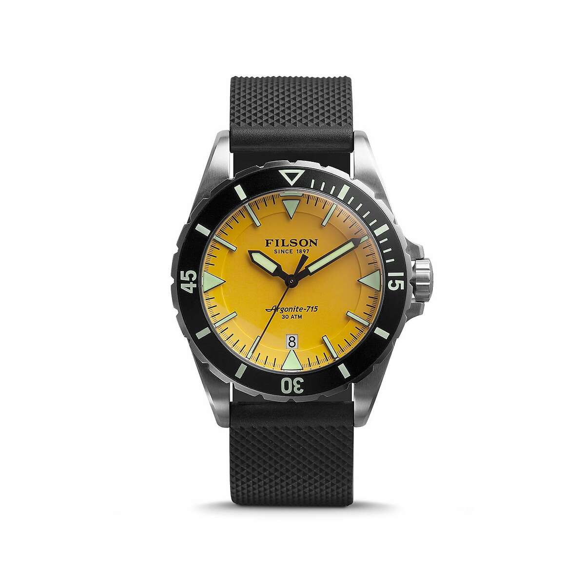 Filson unveils their new Dutch Harbor watch which comes in various styles, priced between $750 to $800.
