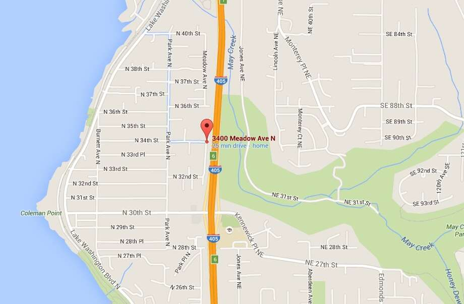 Renton police say a teen male grabbed a 6-year-old boy Monday walking down the street in the 3400 block of Meadow Avenue North. Photo: Google Maps