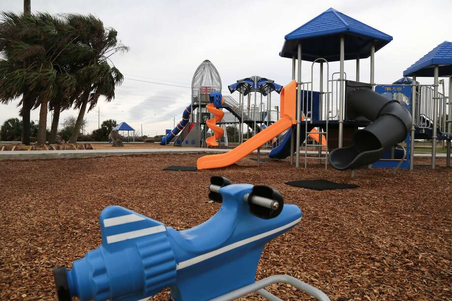 New playground equipment is among the improvements at Galveston's Schreiber Park, set to reopen this spring.Photo courtesy if city of Galveston
