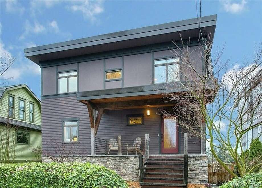 This home, 2216 Walnut Ave. SW., is listed for $1.25 million. The four bedroom, 2.75 bathroom home in West Seattle is a green home built in an urban-loft style. It featured solar-heated water, reclaimed materials throughout and a living roof with a rainwater cistern. 