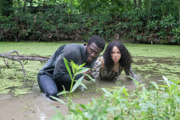 """Aldis Hodge as Noah and Jurnee Smollett-Bell as Rosalee in WGN America's """"Underground."""" MUST CREDIT: Skip Bolen, Sony Pictures Television"""