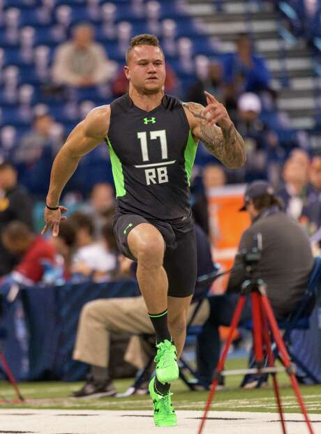 Cal running back Daniel Lasco's time of 4.46 seconds in the 40-yard dash at the combine caught the attention of NFL scouts. Photo: L.G. Patterson, FRE / FR23535 AP