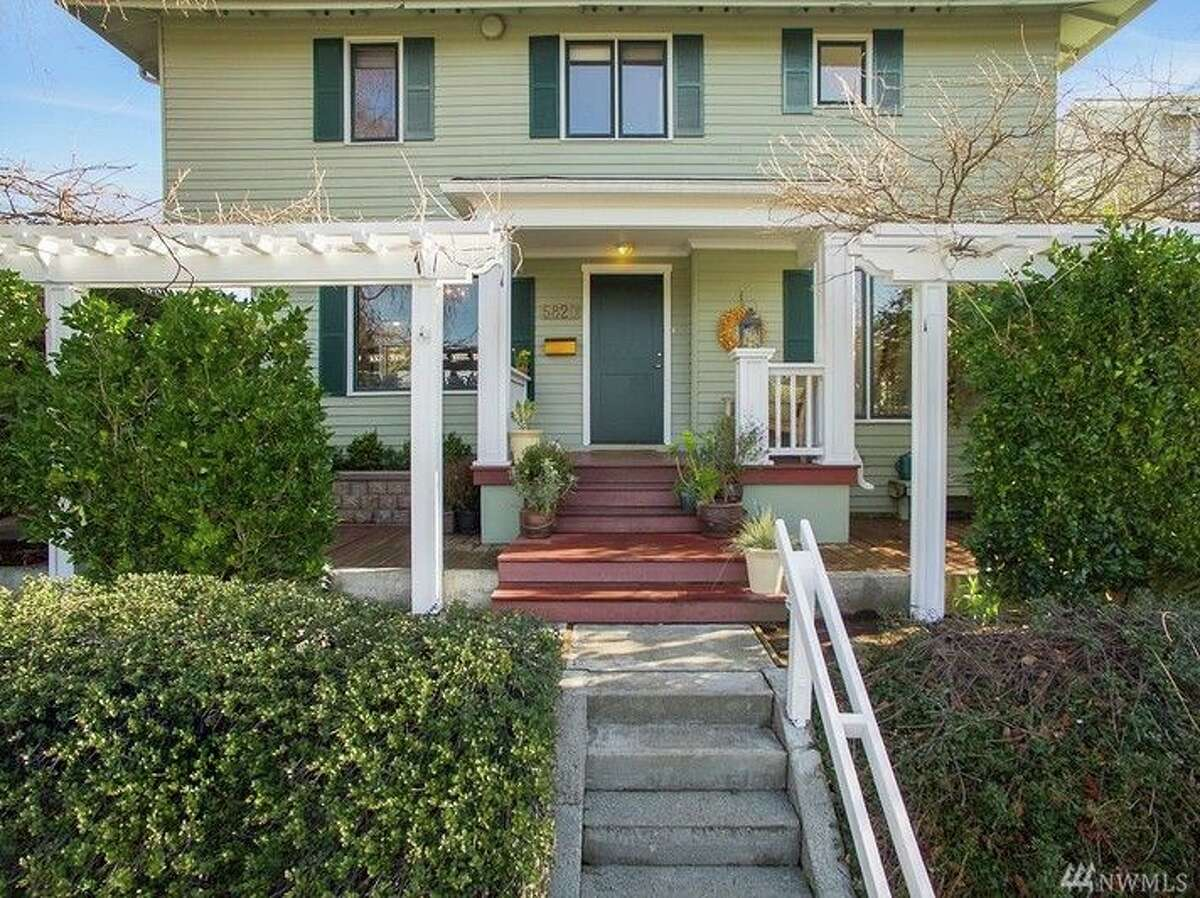 This home at 5820 57th Ave. N.E. is the former residence of The New York Times bestselling author Sarah Jio. Jio has written eight bestsellers, all of which are set in Seattle. This four bedroom, two bathroom home features a living room with a floor-to-ceiling bookcase, a kitchen with a Viking range and an 800 square foot deck. The home is listed for $925,000 and a sale is pending. You can see the full listing here.