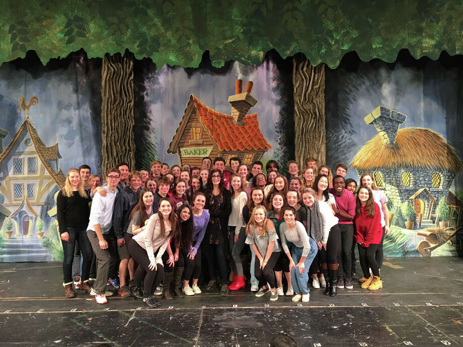 """Tony Award Winner Joanna Gleason visited the New Canaan High School cast and crew of """"Into The Woods"""" for a workshop and Q&A. Gleason won the 1988 Tony Award for Best Actress in a Musical for her role as the Baker's Wife in """"Into The Woods."""" The show is based on the book by James Lapine and the musical score by Stephen Sondheim. Performances are on March 17, 18 and 19 at 7 p.m. at the New Canaan High School Auditorium. Tickets are $15 and $18 and can be purchased at newcanaanhighschooltheatre.com Photo: Contributed / Contributed Photo / Darien News"""