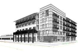 A 107-unit apartment project has been proposed for the corner of McCullough Avenue and Avenue B.