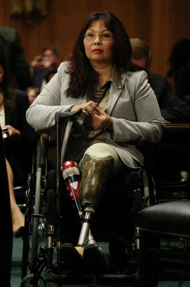"""In a tweet Tuesday, the National Republican Senatorial Committee said of veteran who lost both legs in Iraq, """"Tammy Duckworth has a sad record of not standing up for our veterans."""" Photo: Mark Wilson, Getty Images / 2013 Getty Images"""