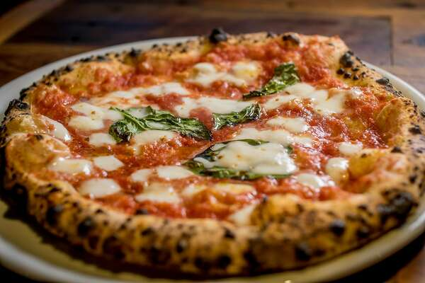 The Margherita pizza ta Del Popolo in San Francisco, Calif., is seen on January 7th, 2016.