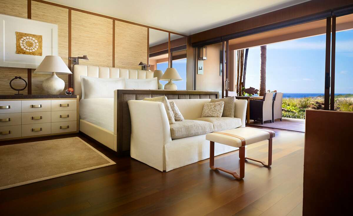 The new Four Seasons Resort Lanai includes 50 suites, some with a separate bedroom, living room and two full bathrooms. Credit: Four Seasons Resort Lanai