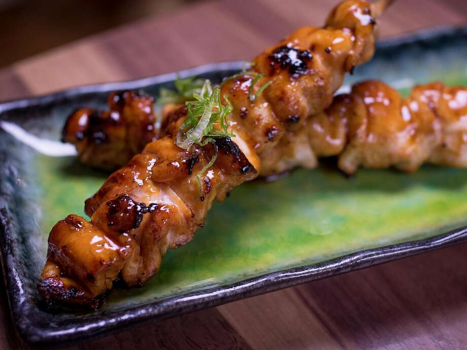 The Chicken Thigh Skewers at Village Sake in Fairfax, Calif. are seen on Friday, November 27th, 2015. Photo: John Storey John Storey, Special To The Chronicle