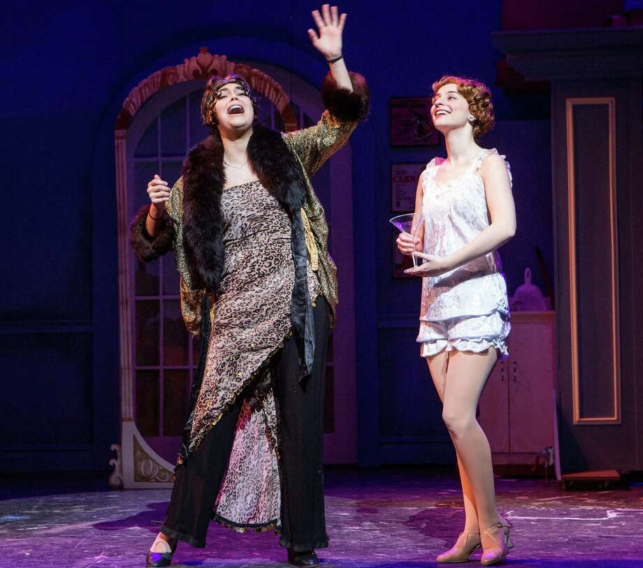 "Jordan Goodness and Caroline Didelot in the Staples Players' production of the musical comedy, ""The Drowsy Chaperone."" Photo: Contributed Photo / Contributed Photo / Westport News"