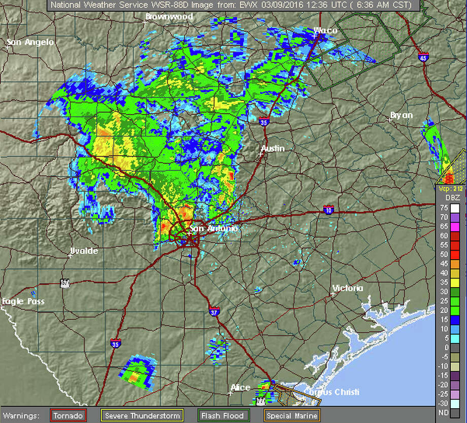 Overnight Storms Dump Rain On South And Central Texas