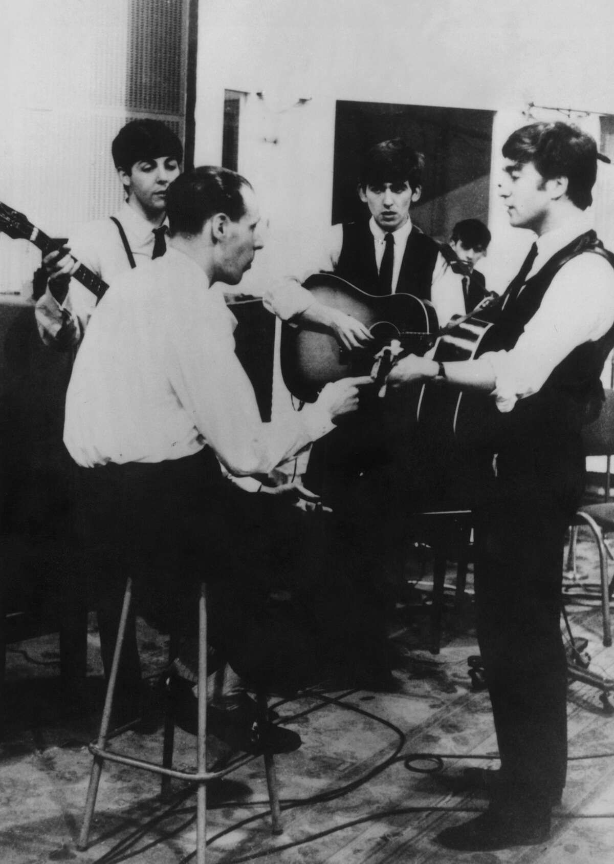 Forming thegroup When the Beatles auditioned for George Martin to get a record deal, he agreed to sign them, but only if they got a new drummer. The group agreed, they dropped Pete Best and went to fetch the best drummer they knew: Ringo Starr.