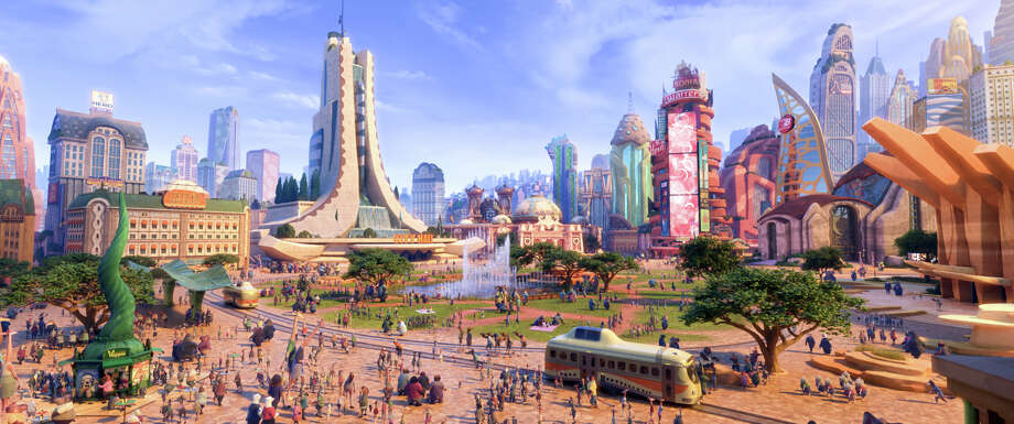"""This image released by Disney shows a scene from the animated film, """"Zootopia."""" (Disney via AP) Photo: Disney, HONS / Disney"""