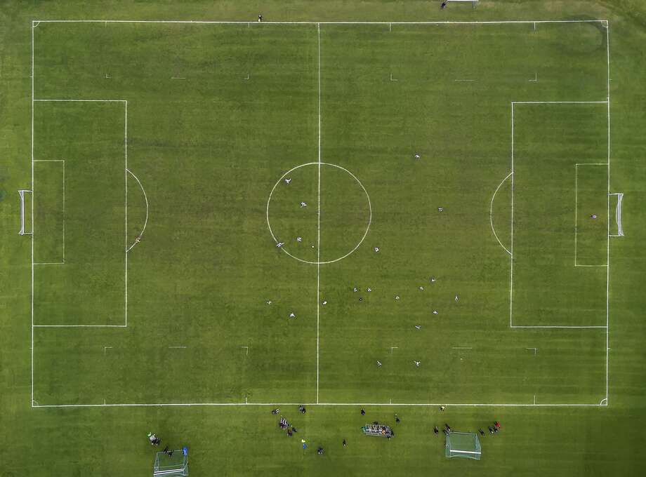 The Flash said the field measured 100 feet by 58 feet, which meets FIFA minimum standards.