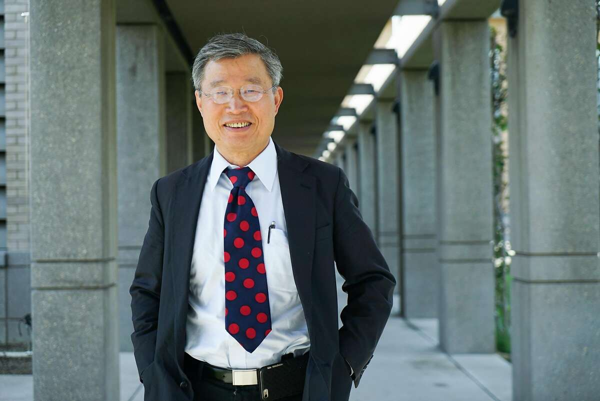 Mayor Barry Chang poses for a photograph at Cupertino City Hall in Cupertino, Calif. on Wednesday, March 9, 2016. The mayor would like companies such as Apple to pay more in taxes in order to fund shuttles that would bus people to and from Caltrain.