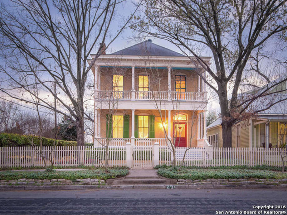 Built by German craftsmen Carl and Otto Schulze in 1910, the home at 231 Adams St. is listed at $799,000. Photo: Courtesy,  Joe Salinas Via MySA.com