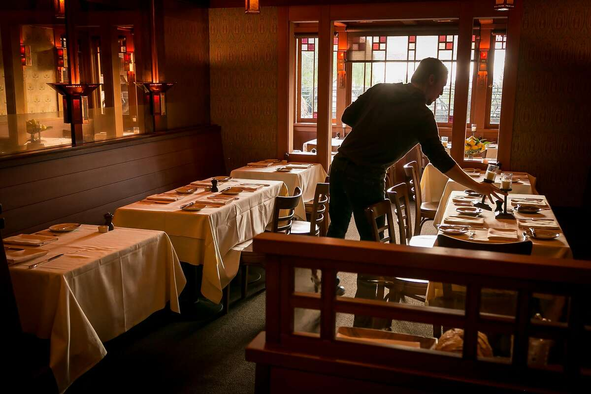The dining room at Chez Panisse in Berkeley, Calif., is seen on Tuesday, February 11th, 2014.