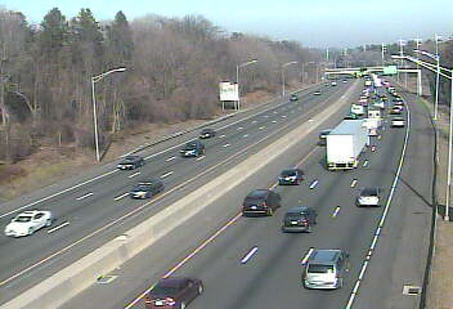 This traffic camera photo shows congestion in Fairfield on Wednesday afternoon. Photo: Contributed Photo / Department Of Transportation