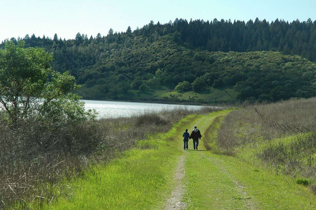 From Moore Creek Park, Napa County's newest and largest park, you get trails that run in the foothills and aside beautiful Lake Hennessey, a great lake for kayaking and fishing for bass in small boats.