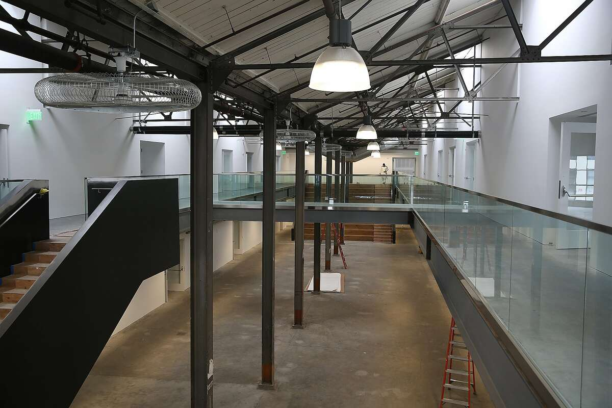 A view of the atrium and skywalk at 1275 Minnesota St., a new cluster of art galleries in a converted warehouse space opening next week in San Francisco, California, and seen on tuesday, march 8, 2016.
