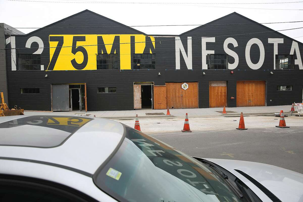 An outside view of 1275 Minnesota St., one of a new cluster of art galleries in a converted warehouse opening next week in San Francisco, California, and seen on tuesday, march 8, 2016.