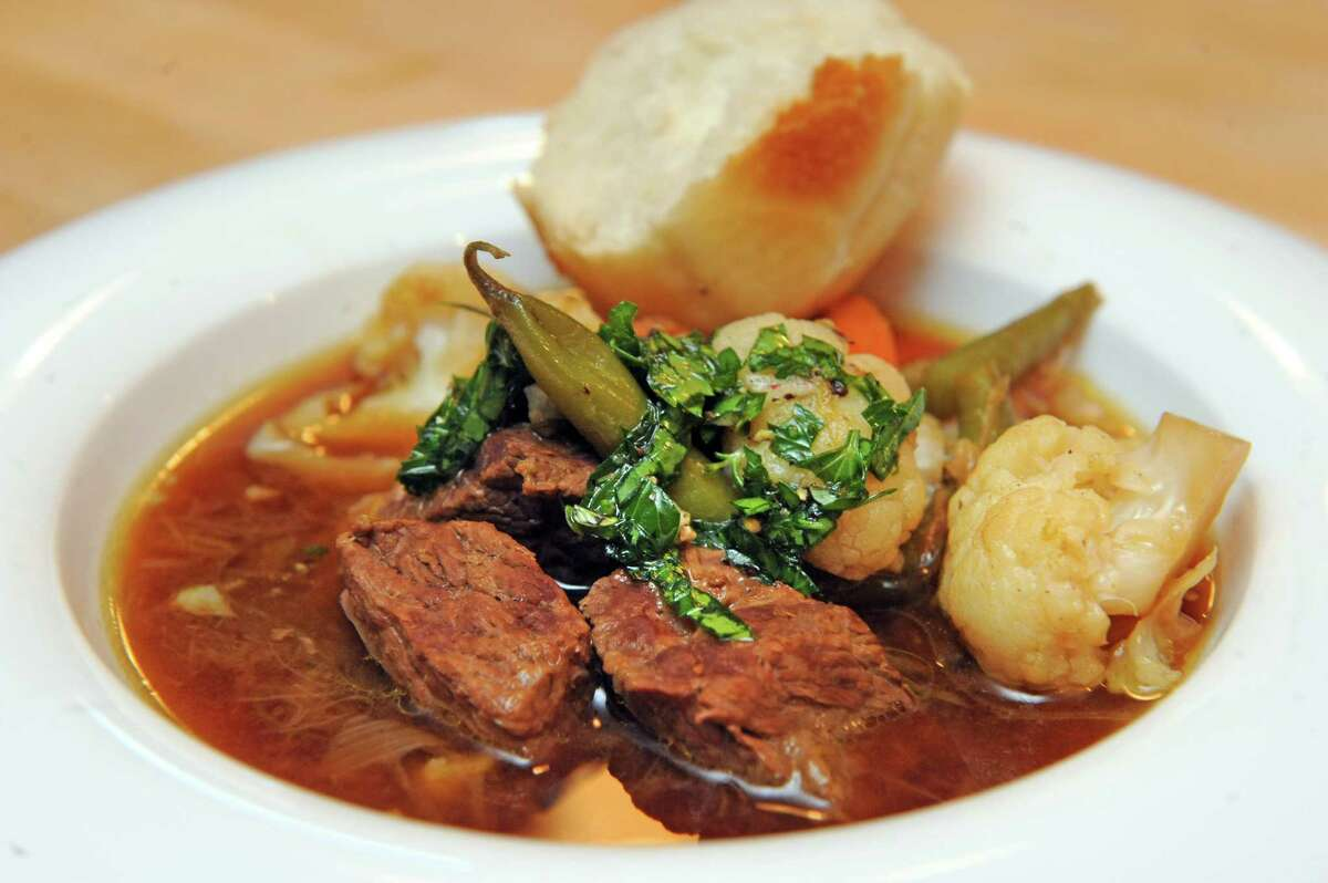 Classic beef stew with fresh herbs on Thursday March 2, 2016 in Delmar, N.Y. (Michael P. Farrell/Times Union)