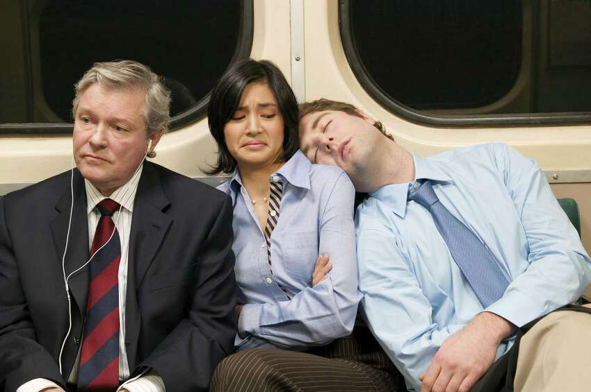 The Asleep in the Aisle Seat and My Stop is Coming Up Do you think they're asleep? Like really asleep? Should I cough? I'll start rustling around with my things, give them the heads-up. Oh god, am I going to have to nudge this person on the shoulder? Please wake up.