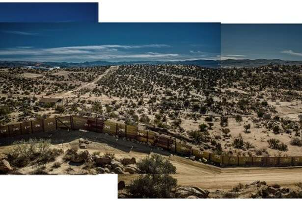 """""""The border wall separates Jacumba, Calif., from Jacume, Mexico, in the high desert,"""" writes James Whitlow Delano for National Geographic. """"Even after the first border barricade was built here in the mid-1990s to disrupt human and drug traffickers, residents of Jacume could cross freely into Jacumba to buy groceries or to work, and children would be brought across to go to school or to the health clinic.""""    Source: News.nationalgeographic.com"""