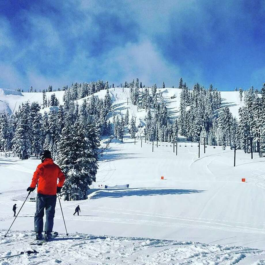 A look at some of the conditions in the Sierra's after March's snowstorms: Bear Valley