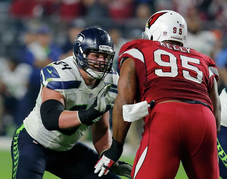 Seattle Seahawks guard J.R. Sweezy during the first quarter of an NFL football game against the Arizona Cardinals, Sunday, Dec. 21, 2014 in Glendale, Ariz. Photo: Rick Scuteri, Associated Press / FR157181 AP