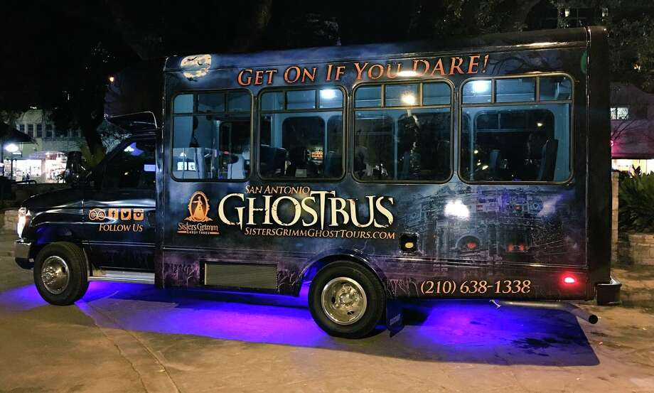 """The San Antonio Ghost Bus, hosted by Sisters Grimm Ghost Tours, aims at providing """"ghostly happenings and terrifying histories,"""" according to the company website. Photo: Facebook/Courtesy"""