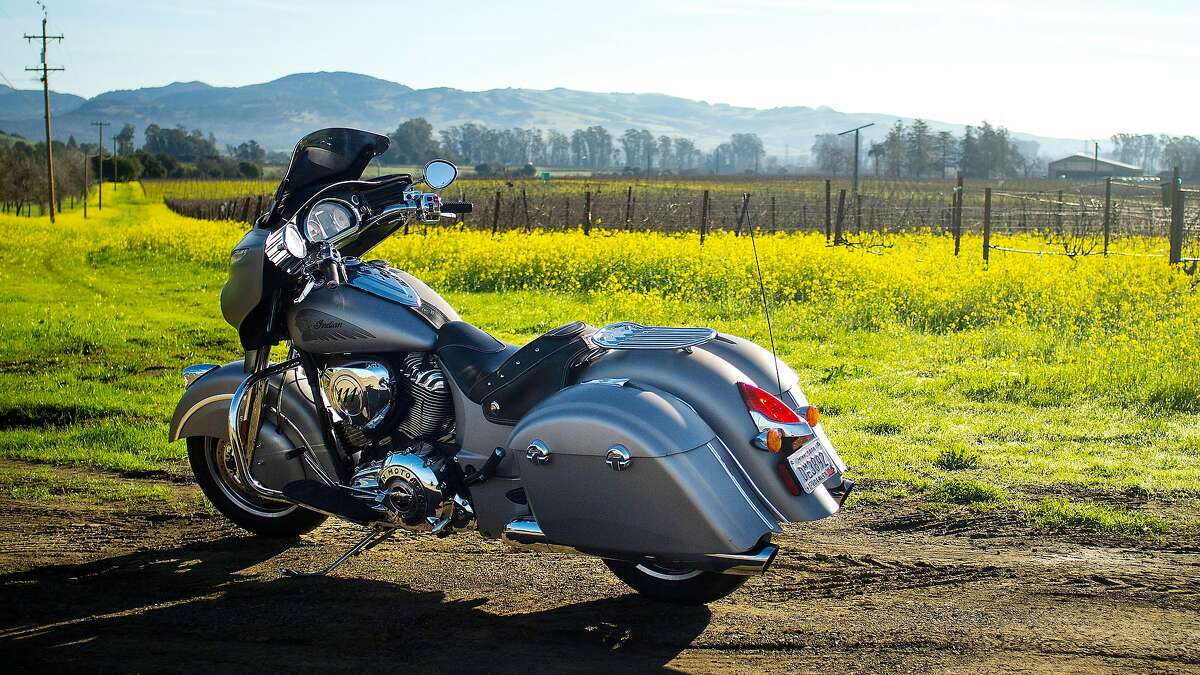 The 2016 Indian Chieftain during a stop in Sonoma County, California.