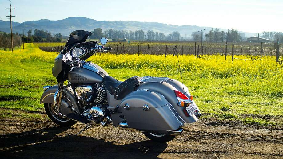 The 2016 Indian Chieftain during a stop in Sonoma County, California. Photo: Chris Preovolos