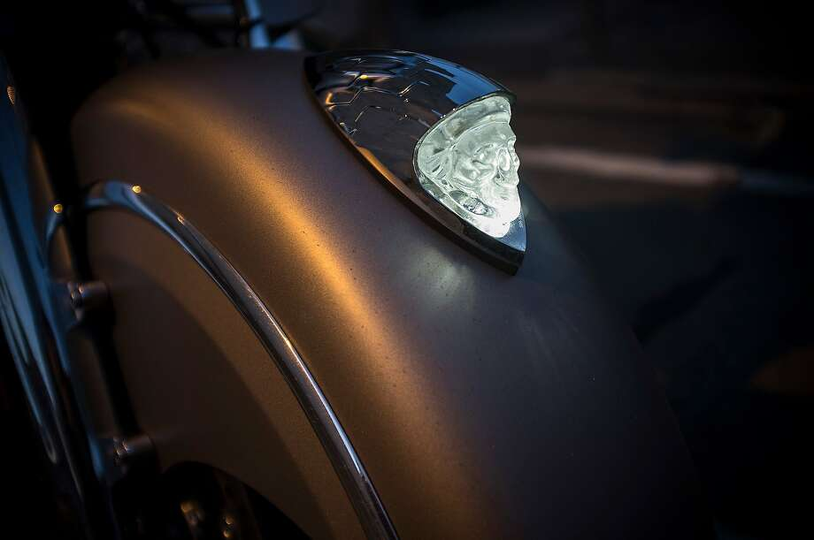 The Chieftain's illuminated fender adornment. Photo: Chris Preovolos