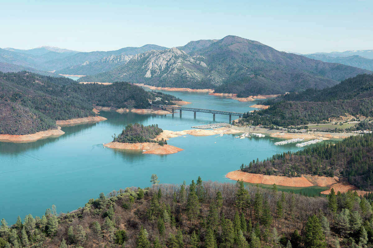 Shasta Lake after El Niño rains on February 25, 2016.