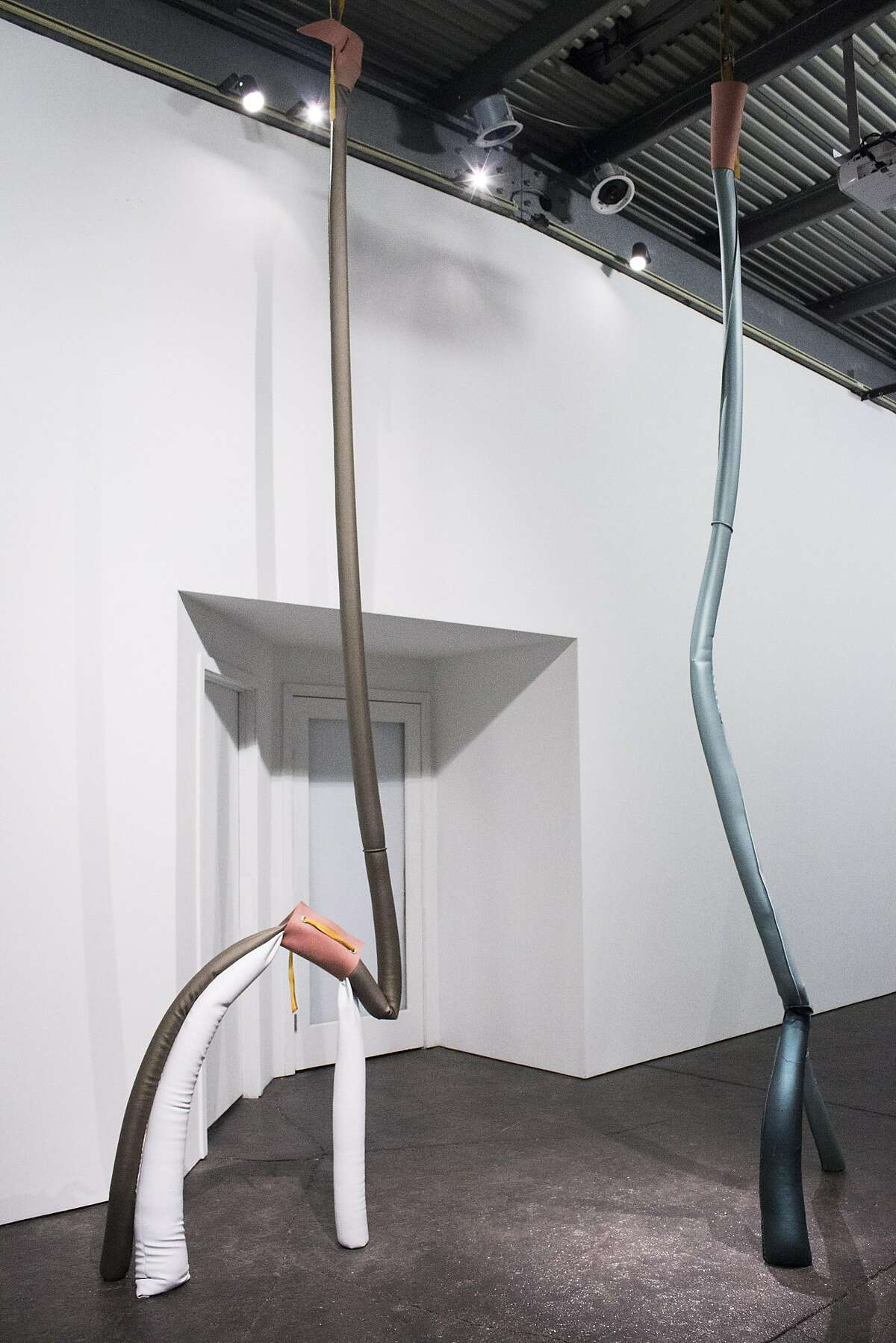 """May Wilson, """"Long Legs"""" (2016), a site-specific installation at Bass and Reiner"""