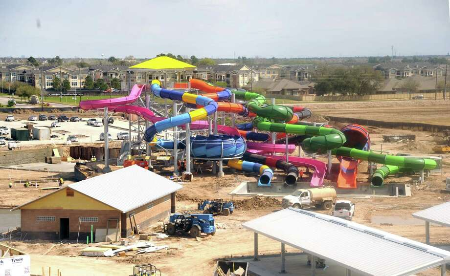 """Typhoon Texas"" waterpark is under construction in Katy. The park is looking to hire employees. Photo: Eddy Matchette, Freelance / Freelance"