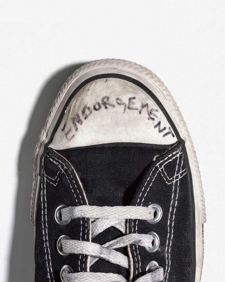 """Endorsement -- Cobain's Converse #1,"" 2007. Courtesy Geoff Moore and KM Fine Arts. Photo: Geoff Moore, Courtesy Geoff Moore And KM Fine Arts Gallery / 2016 Geoff Moore"