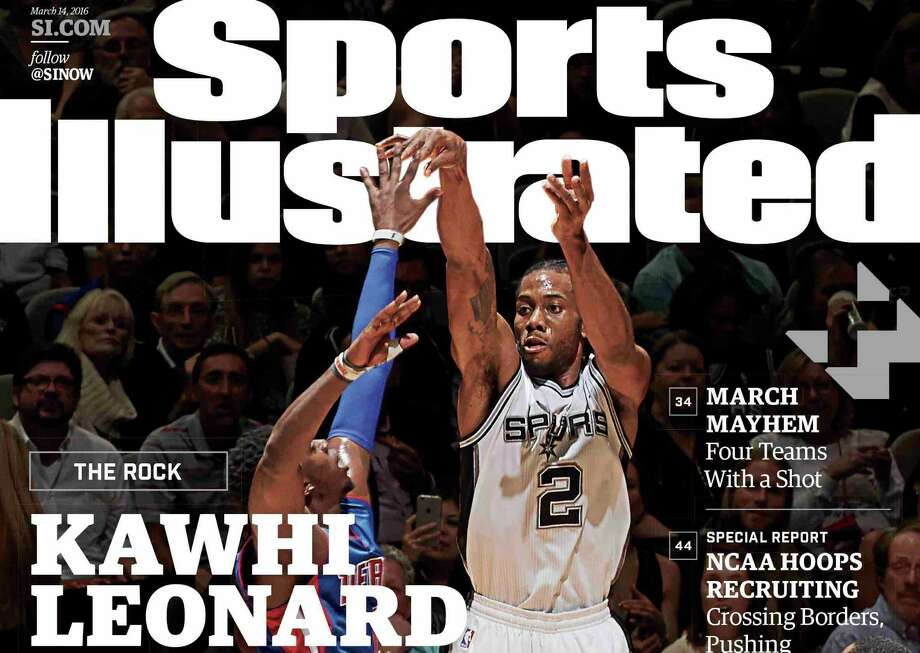 Spurs forward Kawhi Leonard is on the cover of the March, 10, 2016 issue of Sports Illustrated magazine. Photo: Courtesy Photo /Sports Illustrated