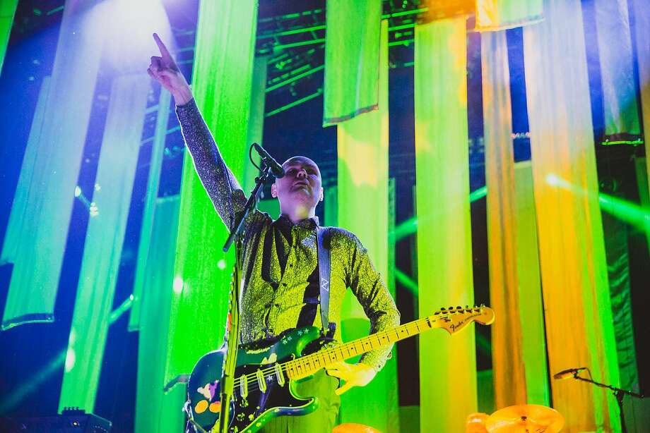 Smashing Pumpkins' front man Billy Corgan at a 2015 gig in Irvine, California. Photo: Debi Del Grande, Courtesy Photo