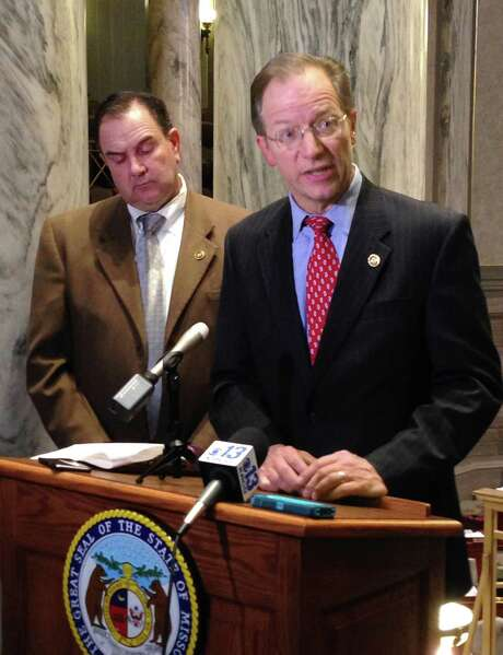 "Missouri state Sen. Bob Onder, seen Wednesday, sponsored the bill. ""No one should be compelled to make a work with their own hands that's offensive to their beliefs,"" he said during a dayslong debate.  Photo: David A. Lieb, STF / Copyright 2016 The Associated Press. All rights reserved. This material may not be published, broadcast, rewritten or redistribu"