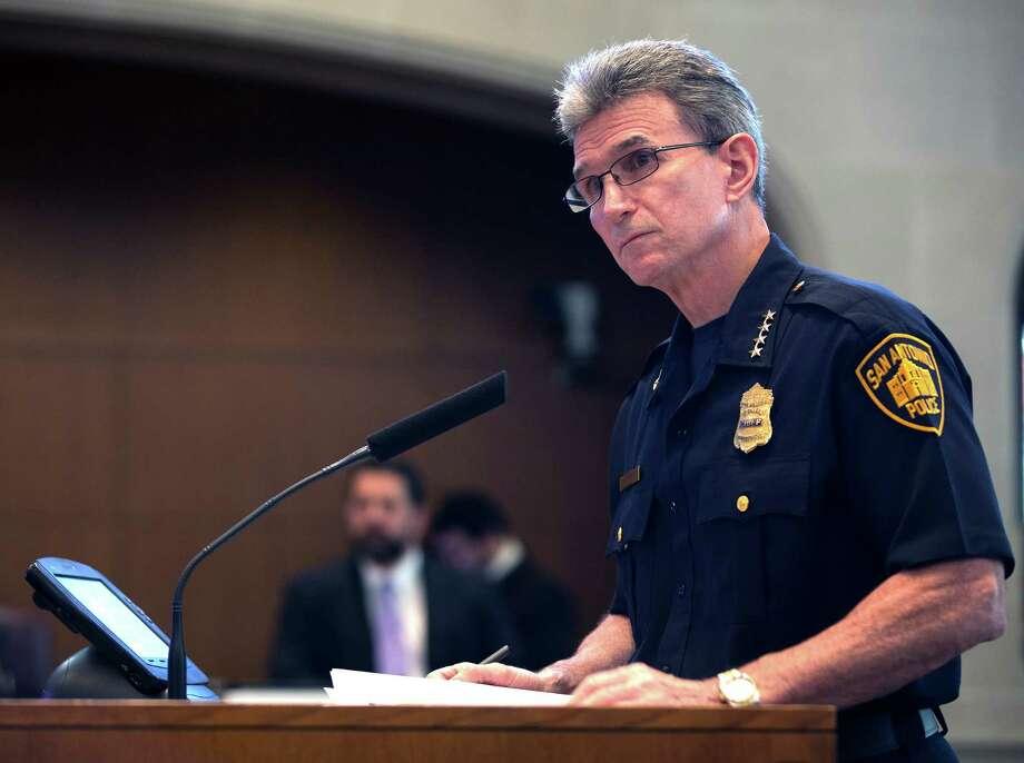 San Antonio Police Chief William McManus. FILE PHOTO Photo: William Luther /San Antonio Express-News / © 2015 San Antonio Express-News