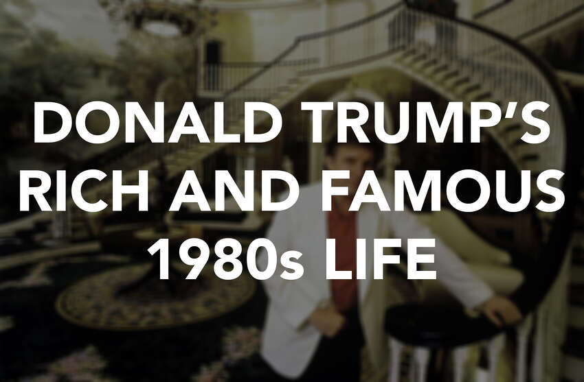 Click ahead to see Donald Trump's celeb-filled life back when he was just famous for being rich.
