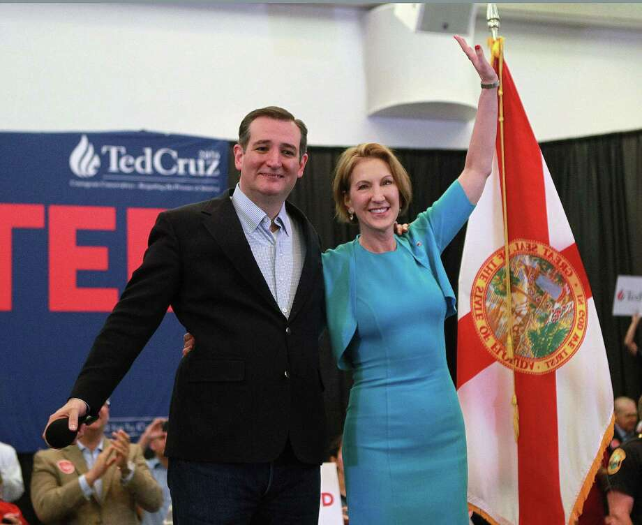 "Saying Donald Trump and Hillary Clinton are both part of ""the system,"" Carly Fiorina announced her endorsement of  Sen. Ted Cruz on Wednesday.   Photo: Roberto Koltun, MBR / El Nuevo Herald"